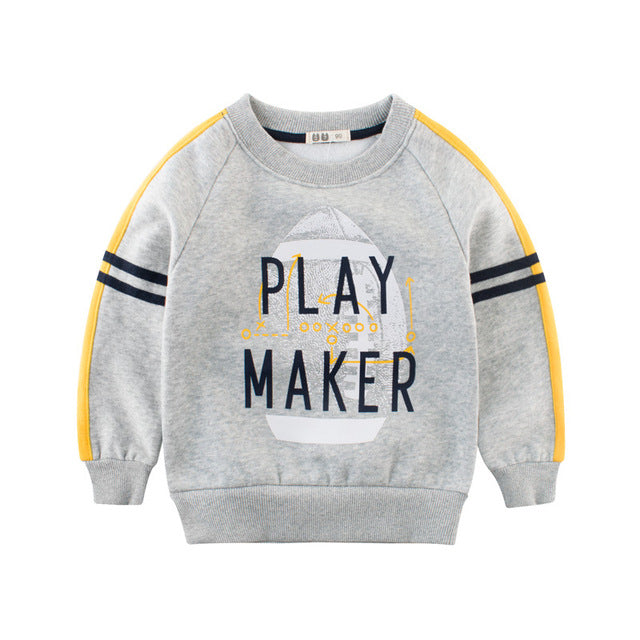 Sweatshirt Winter Thick Jumper Velvet Inner Children Kids Baby Boys Top 2-10Year