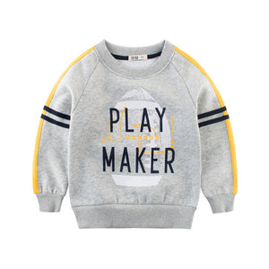 Sweatshirts Children Kids Baby Boys Velvet Inner Clothing Sweatshirt Top 2-10Y