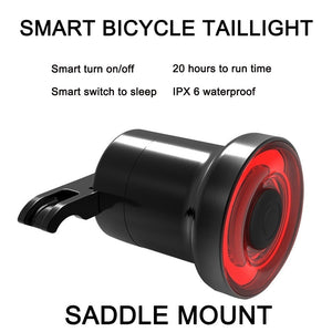 Bicycle Tail light Red Sensor Smart Rear Brake Cycling Light USB Rechargeable