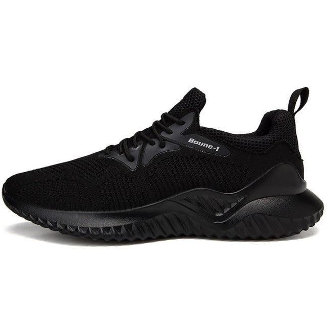 Men Shoes Breathable Mesh Lace Up Casual Shoes Sneakers