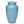 Load image into Gallery viewer, Blue cremation urn hand painted, and made of durable alloy metal. Large Size, Dim: 10? H * 6 W? Cap: 200 Cubic Inches.