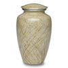 Ivory cremation urn hand painted, and made of durable alloy metal. Large Size, Dim: 10? H * 6 W? Cap: 200 Cubic Inches.