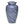 Load image into Gallery viewer, Blue Gray cremation urn hand painted, and made of durable alloy metal. Large Size, Dim: 10? H * 6 W? Cap: 200 Cubic Inches.