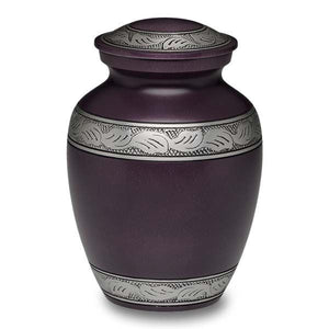Small Purple Alloy Cremation Urn