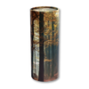"Large scatter tube for ashes with Autumn Woods design. Large size 12.6"" * 5.1"", 200 cubic inch capacity."