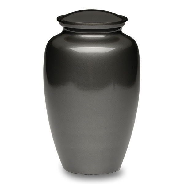 Adult brass cremation urn in slate