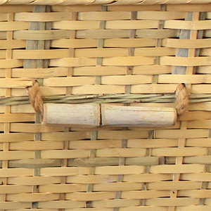 Bamboo casket with viewing lid.Bamboo casket made from sustainable bamboo, lined with natural unbleached cotton. Durable and weight-tested to 350 lbs.