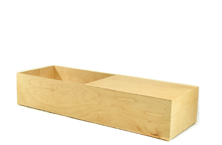 Birch Wood Casket with open lid