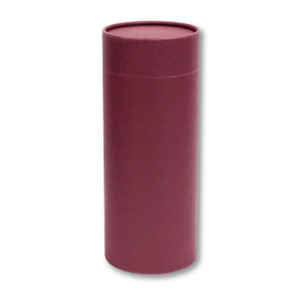 "Large scatter tube for ashes in burgundy color. Large size 12.6"" * 5.1"", 200 cubic inch capacity."