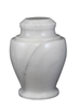 Natural marble urns in antique white created by skilled artisans. The dimensions follow: 10.5″ H and 8.5″ Dia. Capacity: 220 Cubic Inches.