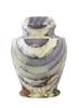 Natural marble urns in onxy blue created by skilled artisans. The dimensions follow: 10.5″ H and 8.5″ Dia. Capacity: 220 Cubic Inches.