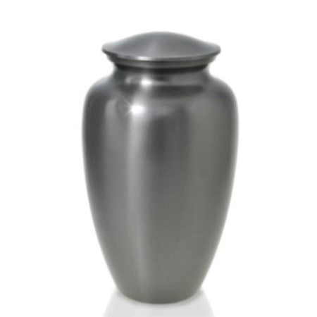 Pewter cremation urn. Large Size Dimensions: 10? H * 6 W? Capacity: 240 Cubic Inches.