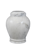 "Antique white handcrafted natural marble memorial urns. Dimensions Height: 10.5"" Diameter: 8.5? Capacity: 220 Cubic Inches."