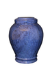 "Blue handcrafted natural marble memorial urns. Dimensions Height: 10.5"" Diameter: 8.5? Capacity: 220 Cubic Inches."