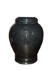 "Ebony handcrafted natural marble memorial urns. Dimensions Height: 10.5"" Diameter: 8.5? Capacity: 220 Cubic Inches."