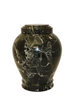"Green handcrafted natural marble memorial urns. Dimensions Height: 10.5"" Diameter: 8.5? Capacity: 220 Cubic Inches."