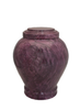 "Purple handcrafted natural marble memorial urns. Dimensions Height: 10.5"" Diameter: 8.5? Capacity: 220 Cubic Inches."