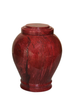 "Red handcrafted natural marble memorial urns. Dimensions Height: 10.5"" Diameter: 8.5? Capacity: 220 Cubic Inches."