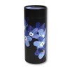 "Large scatter tube for ashes with Forget-Me-Not design. Large size 12.6"" * 5.1"", 200 cubic inch capacity."