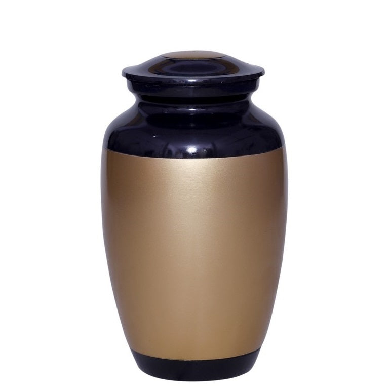 Black & Gold Cremation Urn