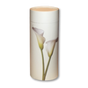 "Large scatter tube for ashes with Lily design. Large size 12.6"" * 5.1"", 200 cubic inch capacity."