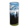 "Small scatter tube for ashes with Mountain View design. Size 8.9"" * 2.95""; 40 cubic inch capacity."