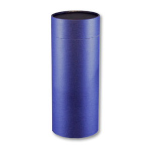 "Mini scatter tubes in navy. Size: 5.25"" * 2.95"" Capacity: 20 cubic inches, made from renewable resources and biodegradable."
