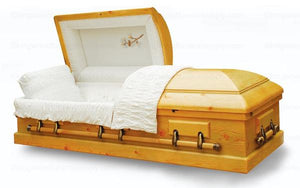 Solid Pine Wood Casket