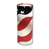 "Large scatter tube for ashes with Patriot design. Large size 12.6"" * 5.1"", 200 cubic inch capacity."