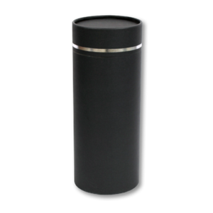 "Token keepsake scatter tube with Silver Lining design. Dimensions 4.75"" * 2"" and Capacity: 10 cubic inches."