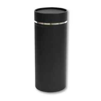"Large scatter tube for ashes with Silver Lining design. Large size 12.6"" * 5.1"", 200 cubic inch capacity."