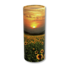 "Large scatter tube for ashes with Sunflower Fields design. Large size 12.6"" * 5.1"", 200 cubic inch capacity."