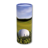 "Large scatter tube for ashes with Golf 19th Hold design. Large size 12.6"" * 5.1"", 200 cubic inch capacity."