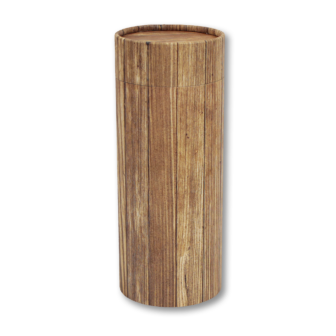 "Mini scatter tubes, Timber design. Size: 5.25"" * 2.95"" Capacity: 20 cubic inches, made from renewable resources and biodegradable."