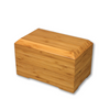 "Bamboo cremation urns are handcrafted from 1/2"" bamboo plywood. Dimensions: 6.25"" L x 10.25"" W x 6.25"" H   Capacity: 245 Cubic Inches."