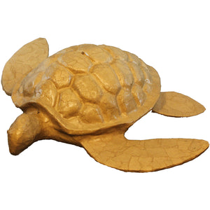 Adult size turtle shaped cremation urns crafted by hand from recycled paper designed to float briefly then sink gracefully at sea.
