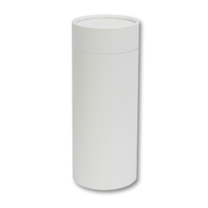 "Large scatter tube for ashes with White Leather design. Large size 12.6"" * 5.1"", 200 cubic inch capacity."