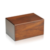 Plain wooden cremation urn box for ashes in various sizes.