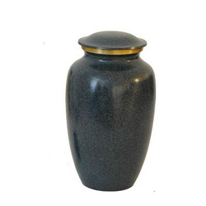Adult black and gold trim cremation ash urn