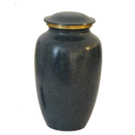 Dark Gray & Gold Band Cremation Urn