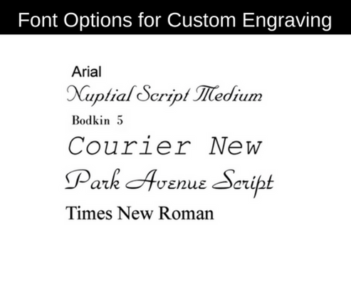Urn Engraving Options