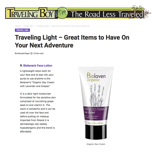 TravelingBoy.com Biolaven Day Cream