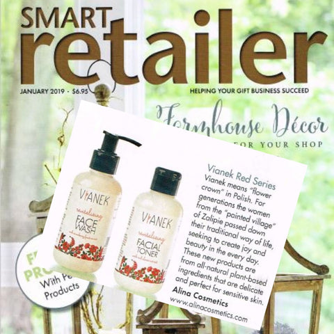 Vianek cleansers in Smart Retailer Magazine