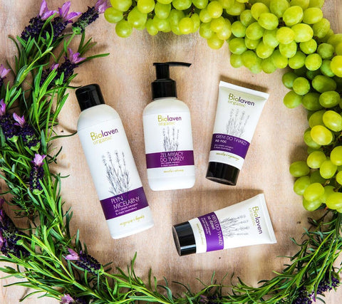 biolaven organic skincare with lavender and grapes