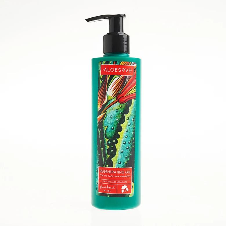 Aloe vera gel for hair, face, and body, multi-use, ALOESOVE brand