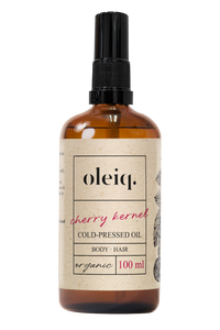 cherry kernel cold-pressed organic oil. Oleiq