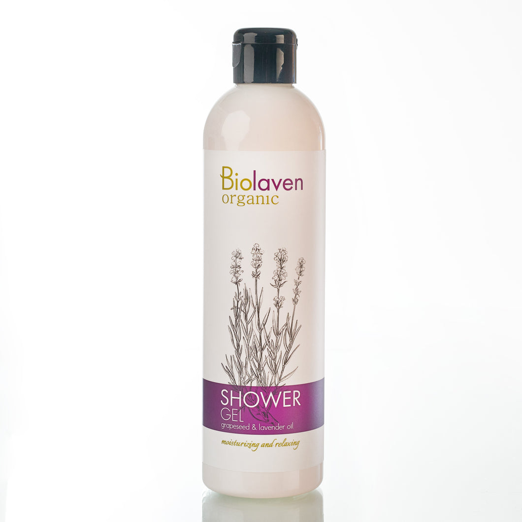 Biolaven Organic Shower Gel with Grapes and Lavender