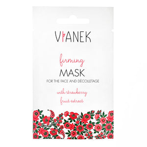 Vianek Firming Mask For Face and Decolletage with strawberry fruit extract