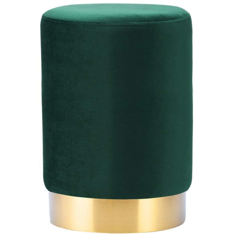Green velvet ottoman dressing table  stool