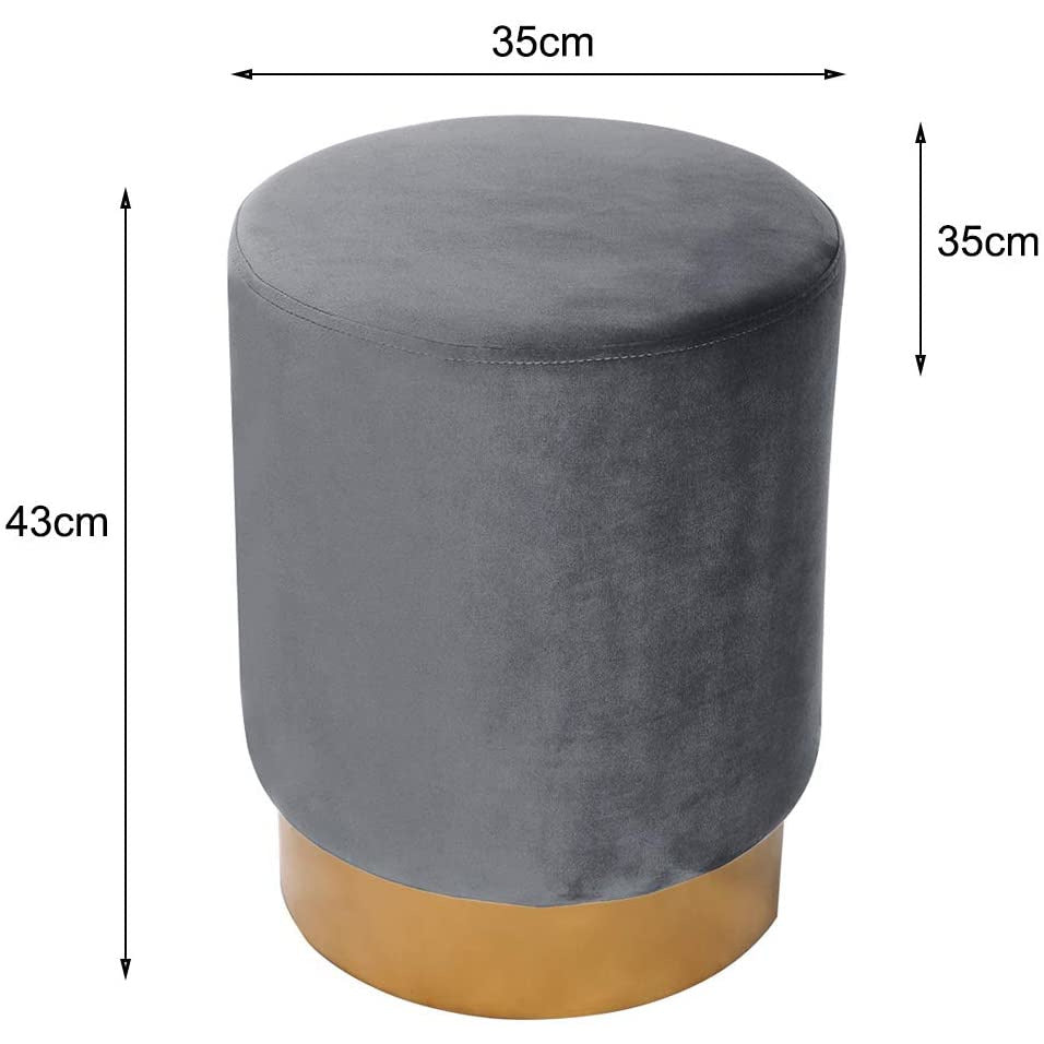 Grey velvet ottoman dressing table  stool